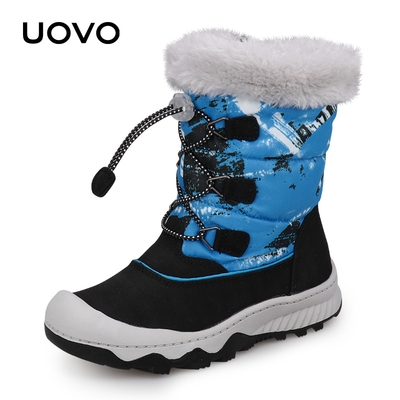 Kids Snow Boots Water Repellent Winter Boots 2019 UOVO New Arrival Children Warm Boots Boys and Girls With Plush Lining #29-38Kids Snow Boots Water Repellent Winter Boots 2019 UOVO New Arrival Children Warm Boots Boys and Girls With Plush Lining #29-38