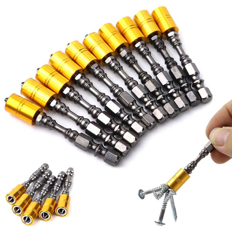 Conjunto magnético forte do bocado da chave de fenda 65mm phillips bocados de chave de fenda eletrônicos para o motorista do parafuso do drywall do gesso