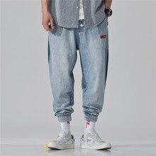 Multi-tasca dei jeans degli uomini di primavera e l'estate di stile di tuta Nove-cent pantaloni casual Hip hop sciolto nove pantaloni di qualità High-end