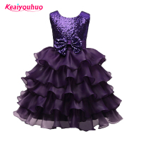 Retail Hot Summer Girl Dress Elegant Puper Kids Party Dresses For Girl Clothes Children S Girl