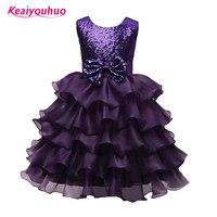 Retail Hot Summer Girl Dress Elegant Puper Kids Party Dresses For Girl Clothes Children S Girl