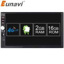 "Eunavi 2din 7 ""android 6.0 7,1 Auto Multimedia Player autoradio Universal Quad Core Doppel 2 din autoradio Head Unit mit wifi"