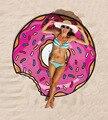 2016 Summer Beach Cover Up Гамбург Пончик Пицца Печати Пляж мат Купальники Женщины Praia Хиппи Boho Мультфильм Плащ Коврики для Пляжа кимоно