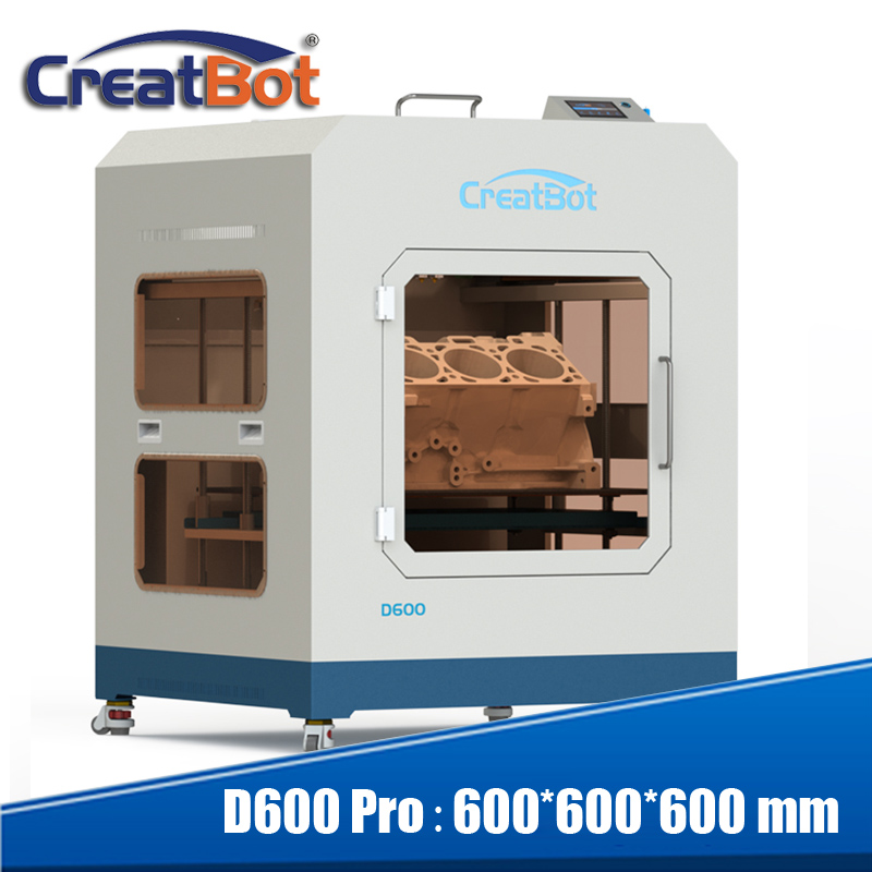 CreatBot D600 Pro large print size 600 600 600 dual extruder 3d metal printer high precision China industrial desktop 3d printer