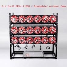 Stackable Computer Fame 19 Graphics Card GPU USB PCI E Cable Computer Case BTC LTC ETC