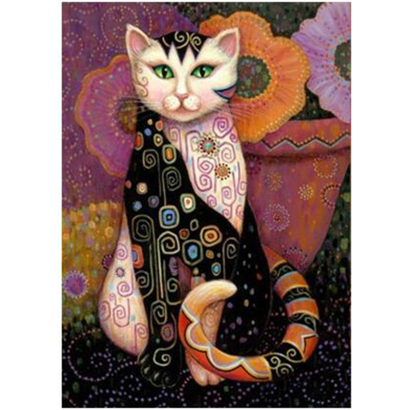 ציור יהלום, רקמת יהלומים, בעלי חיים, חתול, שובב, ילדים, מתנות, קישוט הבית, יהלומי פסיפס, אומנויות מחט, קרפט