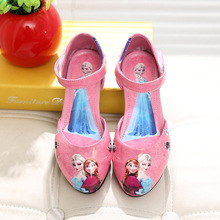 Spring Hot Sale Flower Girls Shoes Princess Single Shoes For Girl Kids Children Fashion PU Sneakers Children's Sandals XZ014