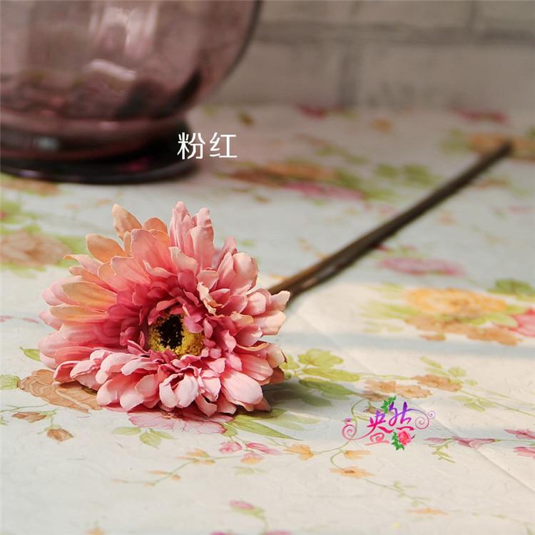Soie Artificielle Tige Unique Gerbera X 53 cm-Peach