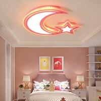 Modern Kids Room LED Ceiling Lights AC85 260V Moon Star Lampara De Techo For Baby Children
