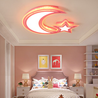 Modern Kids Room LED Ceiling Lights AC85 260V Moon Star Lampara De Techo For Baby Children
