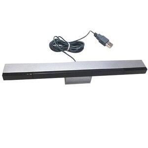 Image 1 - New USB TV Hồng Ngoại Ray Có Dây Cảm Biến Từ Xa Bar Receiver Cuộn Cảm đối với Nintendo Wii Console