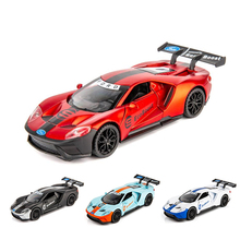 1:32 Ford GT Race car Toy Car  Metal Diecasts & Vehicles Model with light sound Toys For Children