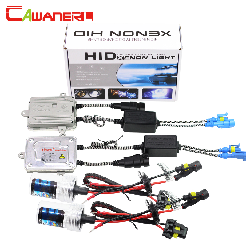 Cawanerl 880 881 9005 HB3 9006 HB4 H1 H3 H7 H8 H11 55W HID Xenon Kit 6000K White AC Ballast Bulb Car Light Headlight Fog Lamp