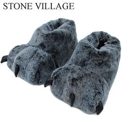 Alta calidad pantuflas de animales, zapatillas de invierno de las mujeres monstruo de peluche de Casa hombre zapatillas de interior de los zapatos de piso