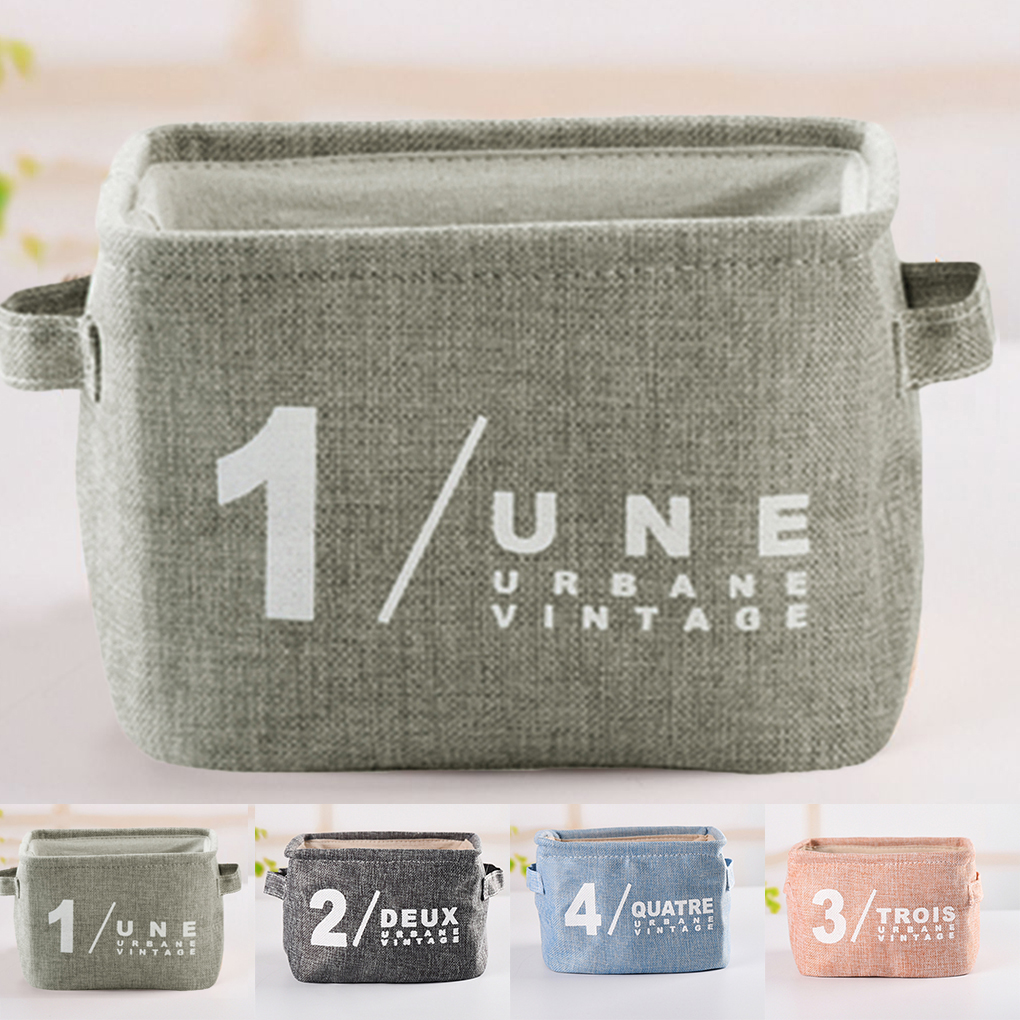 2017 Newest 4 Colors Folding Storage Bags Linen Kitchen Organization Storage Baskets Bathroom Desktop Storage Box Small Basket ...
