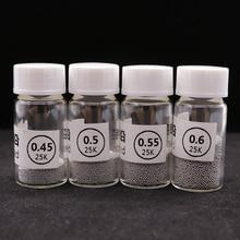 4 шт. Sn63Pb37 25 к/бутылка для BGA инструмент шар 0,45/0,5/0,55/0,6 мм BGA припой мяч