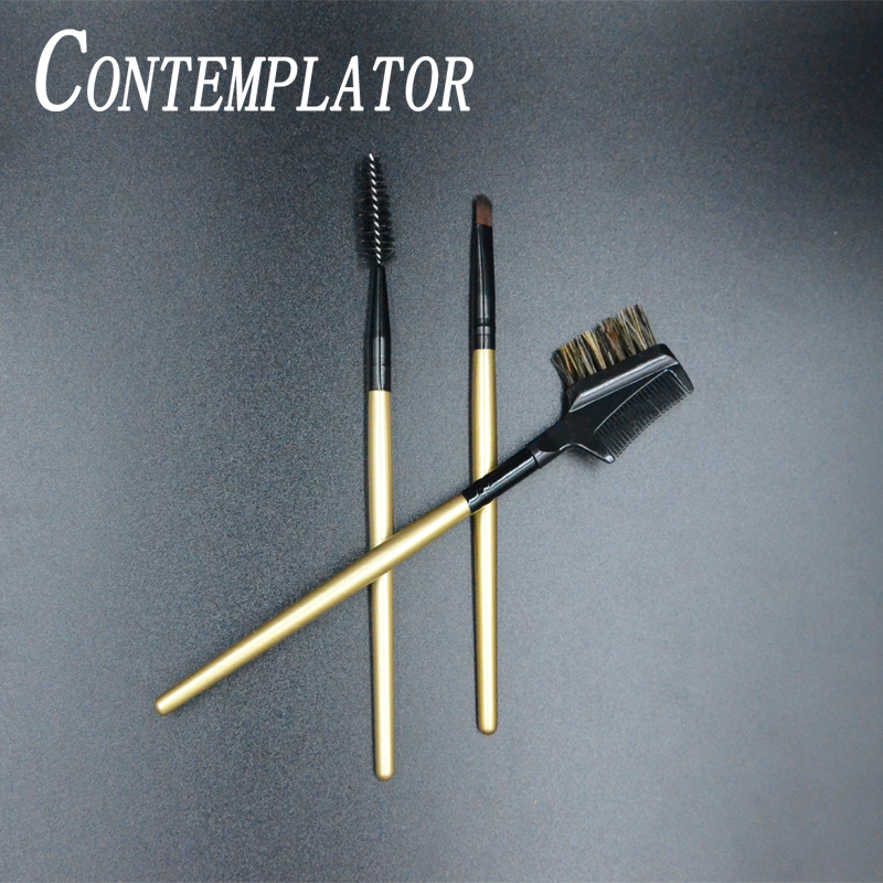 CONTEMPLATOR 3pcs Brush Fly Tying Functional Beauty Hackle Tools Useful Dubbing Kit Combing Fiber/hairs For Fly Fishing Lures