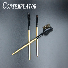 CONTEMPLATOR 3 pcs spazzola fly tying bellezza multifunzionale hackle utili doppiaggio kit pettinatura in fibra/capelli per la pesca a mosca esche(China)
