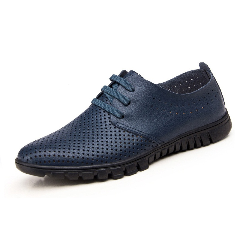 as 2 3 as Up Confortable Masculine Picture 1 Lace as Bout bleu jaune Maille Hommes Casual Respirant marron Trous Mode Aa52129 Plat Rond Noir Chaussures 80XPOnwk