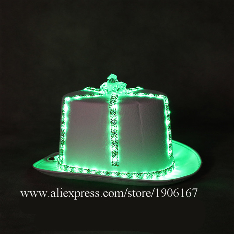 Led light hat music festival nightclub bar light stage props birthday gift02
