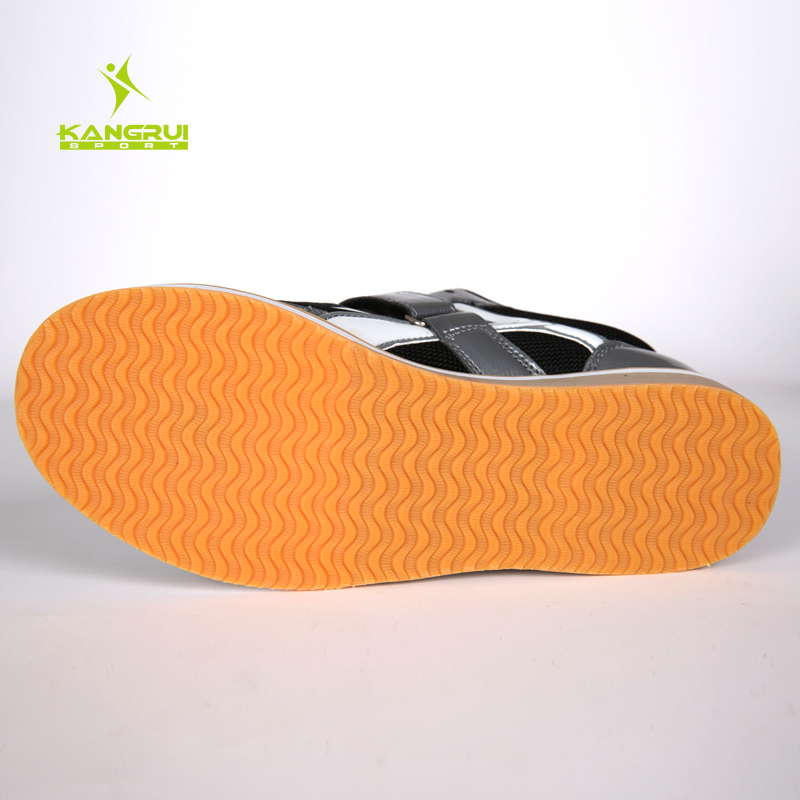 Chaussures d'haltérophilie professionnelles de haute qualité Kangrui Squat formation en cuir antidérapant chaussures de musculation - 5