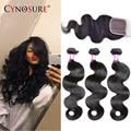 8A Brazilian Body Wave 2&3 Bundles With Closure Cheap Brazilian Hair With Closure Brazilian Virgin Hair Body Wave With Closure