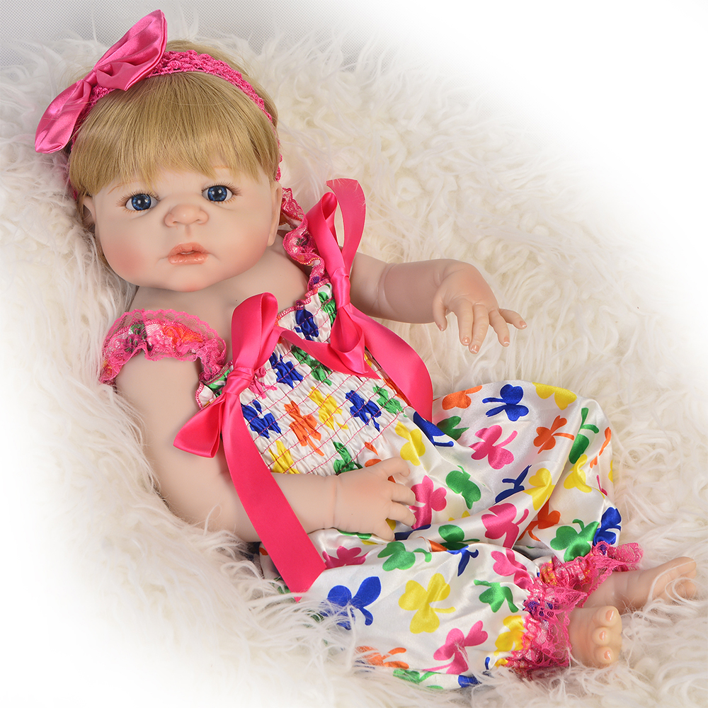 Lifelike Silicone Body Real dolls Full Vinyl Reborn Truly Girl Model toy newborn alive doll gifts for the new year for kids free shipping ems dhl original armani men s watches fashionable watches men s quartz watch ar5889 original box