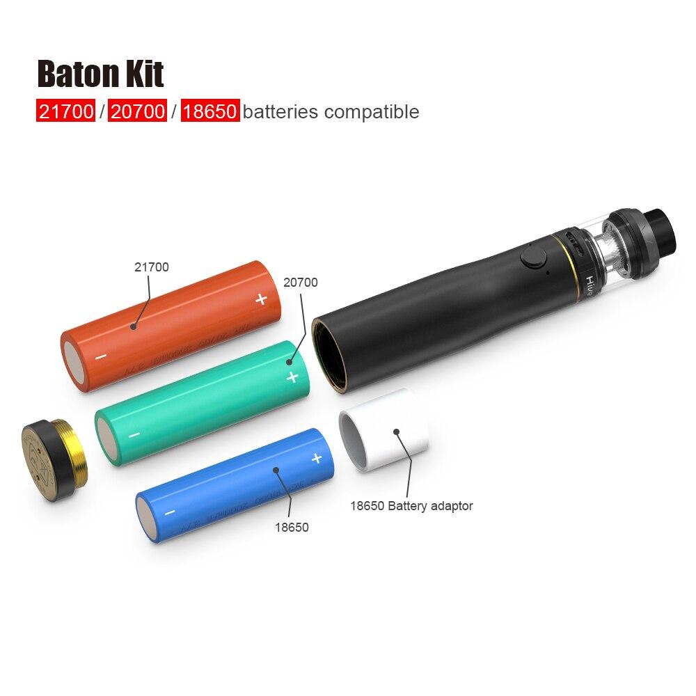 Artery Baton Kit Semi-Mechanical Mod with 2ml/3ml Hive S Mesh Coil Sub-ohm Atomizer Vape Pen Kit External Battery