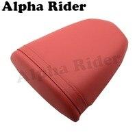 Motorcycle Rear Pillion Passenger Seat Fender Cover Sitting Pad Red Cushion For Suzuki GSXR600 GSXR750 K4