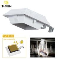 T SUNRISE conduziu a luz solar da calha solar posta à prova dwaterproof água cerca branca luz de parede para jardim quintal telhado segurança solar sensor lâmpada|Lâmpadas solares| |  -
