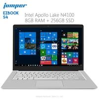 Original Jumper EZbook S4 Laptop 14.0 inch Windows 10 Intel Apollo Lake N4100 Quad Core 8GB RAM 256GB SSD Notebook