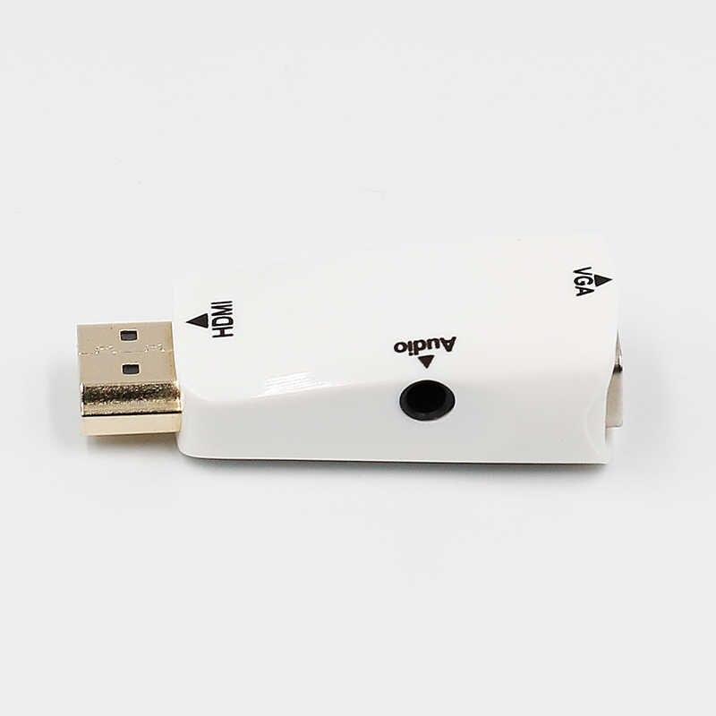 HD 1080P HDMI لمحول VGA الصوت محول الكابل ذكر إلى أنثى لأجهزة الكمبيوتر المحمول صندوق التلفزيون شاشة عرض كمبيوتر العارض HDMI كابل