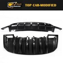 Бесплатная доставка углеродного волокна автомобиля бампер передний охранник тела комплект для Porshe Cayenne