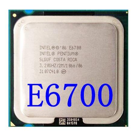 Garantía de por vida núcleo 2 Duo E6700 3,2 GHz 4M 1066 procesador de escritorio de doble núcleo CPU Socket LGA 775 pin ordenador