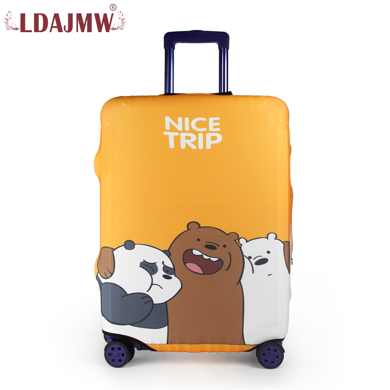 LDAJMW Cartoon Travel on Road Luggage Cover Protective Suitcase cover Trolley case Travel Luggage Dust cover for 18 to 32inch y road travel trolley luggage suitcase 100