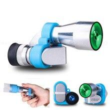 Adults Kid Mini Pocket Monocular 8x20 HD Corner Optical Zoom Telescope Eyepiece for Outdoor Expedition Opera Turizm