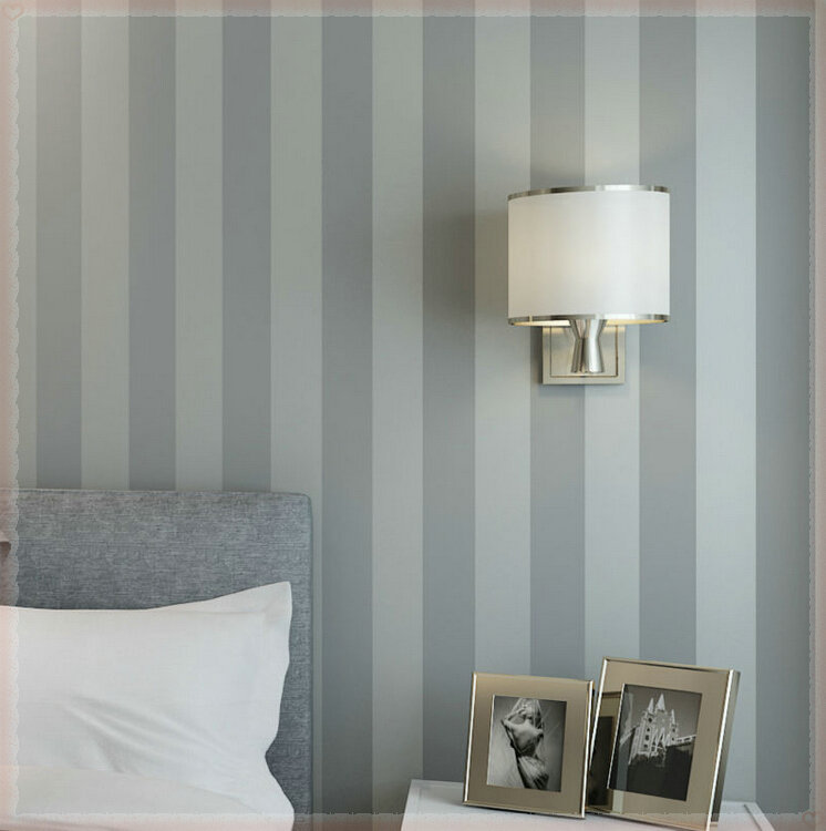 56 sqf 10m roll modern simple style grey strips striped for Grey bedroom wallpaper