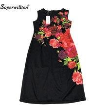 Print Business Women's Dress