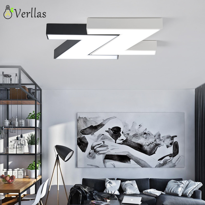 Modern LED Ceiling Lights Black White Square Office Light With Dimming remote Home Lighting For Living Room Dining Ceiling Lamps modern led ceiling lights black white square office light with dimming remote home lighting for living room dining ceiling lamps