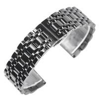 20mm 22mm Herren Luxus Schwarz Goldene Uhr Aus Edelstahl Band Armband Faltschließe Qualität Ersetzen Handgelenk Strap
