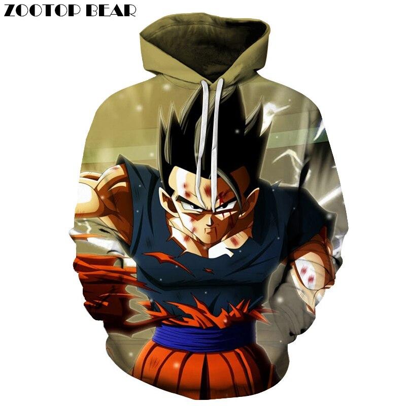Men 3D Cloth Dragon Ball Super Acme Streetwear 3D Print Hoodie Sweatshirts Tracksuit Band Hoodies Goku Anime Pullover DropShip Z