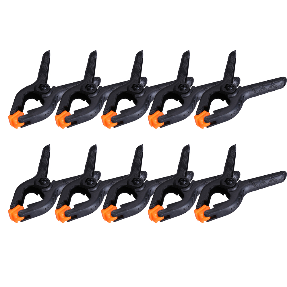 10pcs/lot 2inch Adjustable Plastic Woodworking Clamp Carpentry Clamps Spring Clips For Woodworking Tools Herramientas Attrezzi