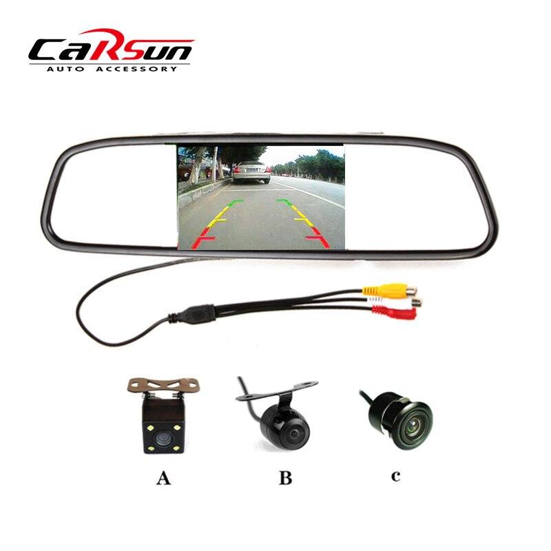 """imágenes para New Car Styling 4.3 """"Pantalla a Color TFT LCD de Coches Retrovisor Monitor + CCD Cámara de Visión Trasera"""