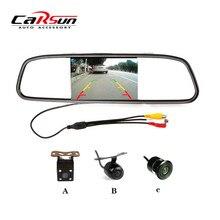 Новый Автомобиль Стайлинг 4.3 «TFT Цветной ЖК-Дисплей Автомобиль Зеркало Заднего вида Монитор + CCD Камера Заднего вида