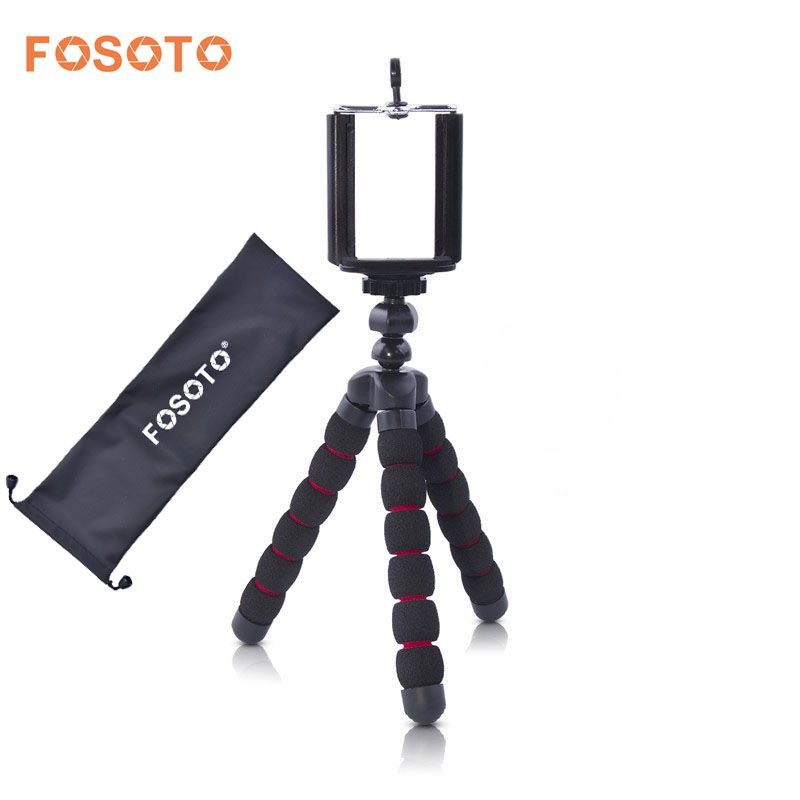 fosoto Mini Octopus Fleksibel Stativ Digitalkamera Mobiltelefon Portabel Stativ Gorillapod Type Monopod For Iphone X 7 8