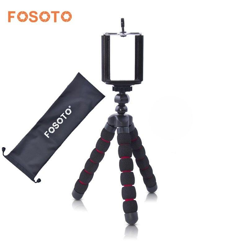 fosoto Mini Octopus Flexible Tripod Digital Camera Mobile Phone Portable Stand Gorillapod Type Monopod for Iphone X 7 8
