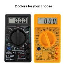 DT-830B Digital Multimeter Voltmeter Ohmmeter Ammeter Handheld Tester Meter Overload Protection With Probe Miernik Elektryczny