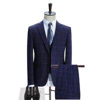 Business Work Suits Men 2017 Latest Coat Pant Vest Designer Daily Pant Suit Fashion Slim Fit