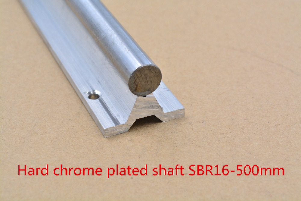 SBR16 linear guide rail length 500mm chrome plated quenching hard guide shaft for CNC 1pcs