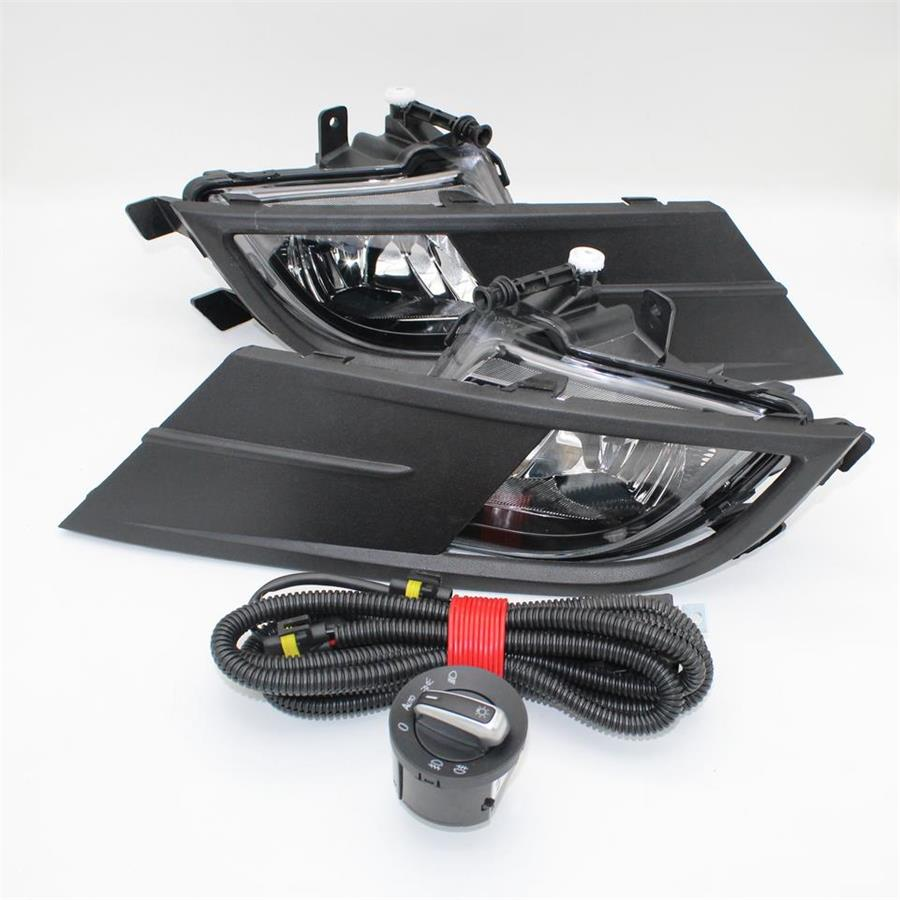 For VW Vento 2015 2016 2017 2018 Car-Styling New Front Bumper Fog Light Fog Lamp + Wire + Switch+Fog Light Grille Cover Kit